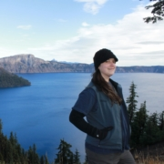 Debra at Crater Lake